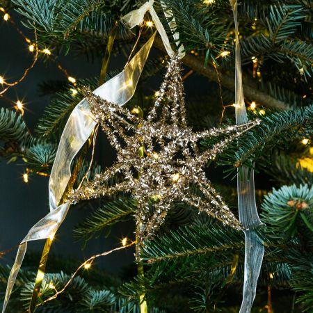 Small Gold Glitter Star Decoration