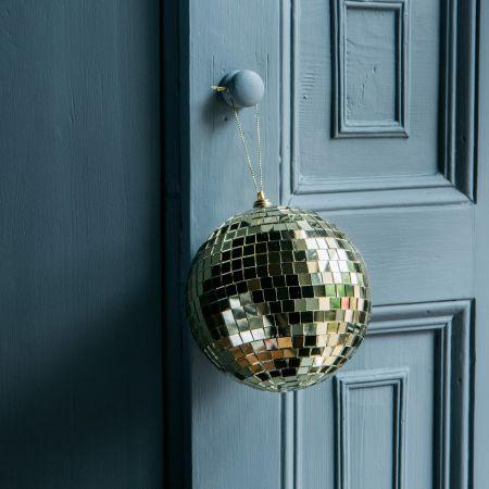 Gold Disco Ball Baubles