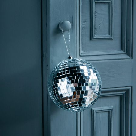 Large Silver Disco Ball Bauble