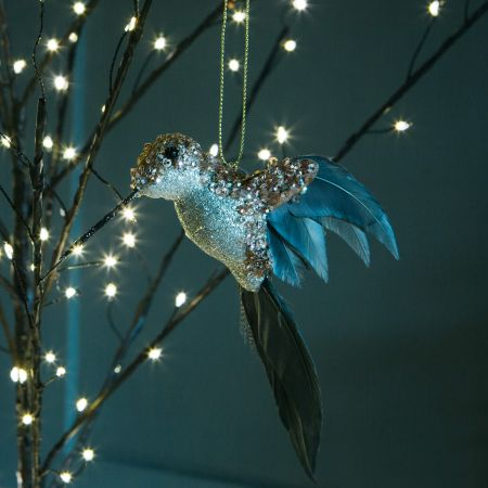 Champagne Glitter Hummingbird