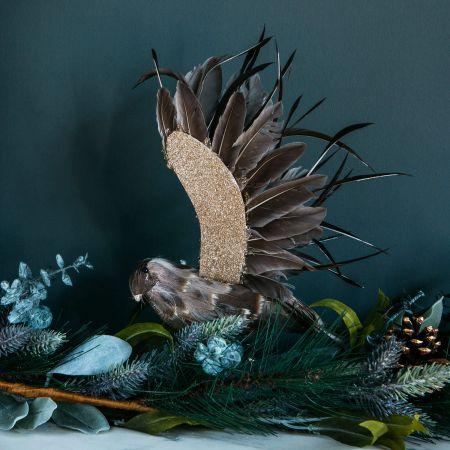 Flying Feather Bird Clip