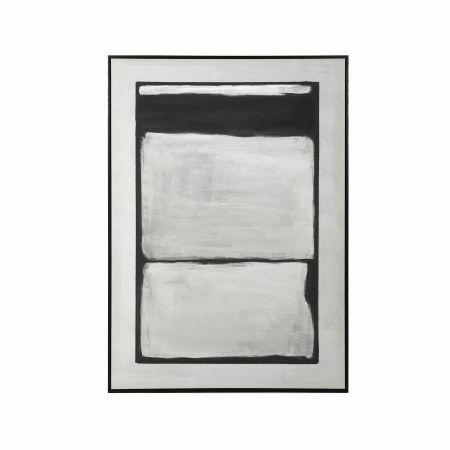 Grey and Black Abstract Print