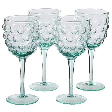 Set of Four Bubble Wine Glasses