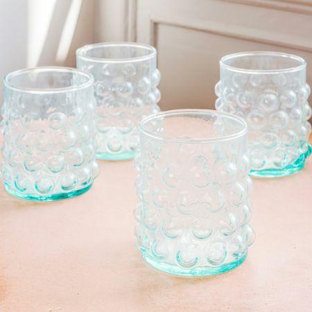 Set of Four Bubble Tumblers