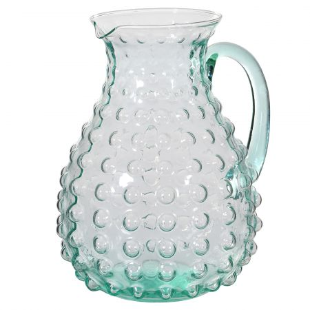 Glass Bubble Pitcher