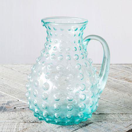 Glass Bubble Pitcher