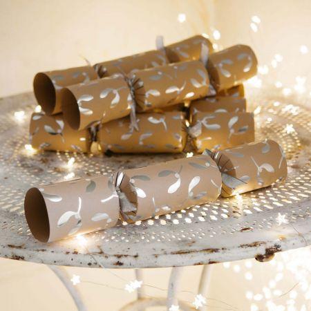 Set of Six Luxury Mistletoe Crackers
