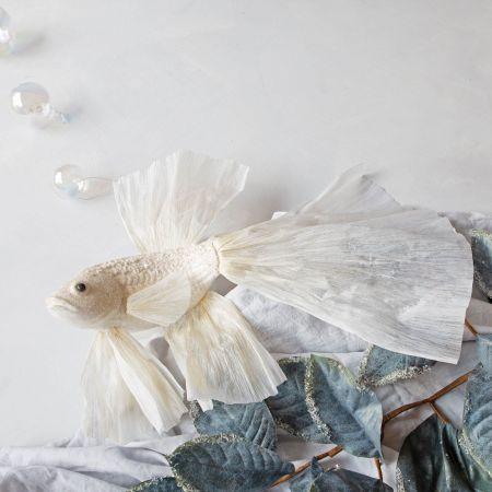 Large Beaded Fish Decoration