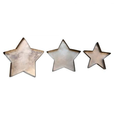Set of Three Star Plates