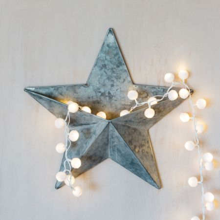 Antiqued Star Wall Decoration