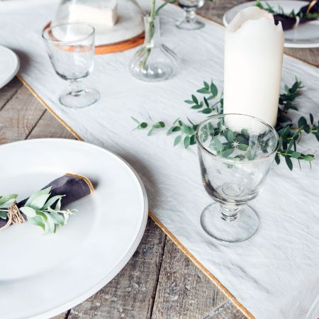 White and Gold Table Runner