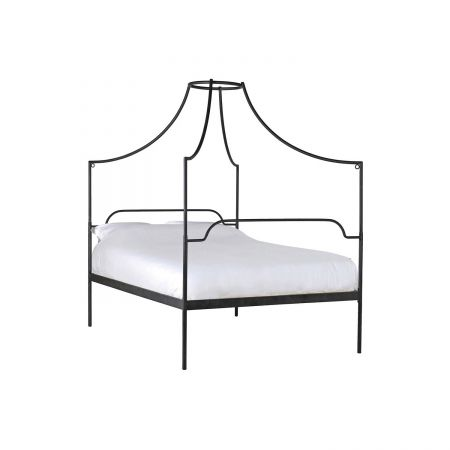 Black Canopy King Size Bed