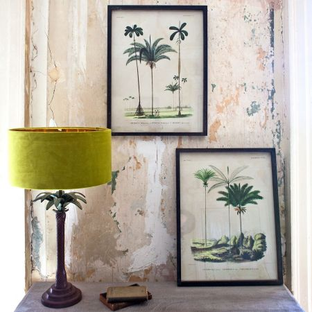 Set of Two Palm Tree Pictures