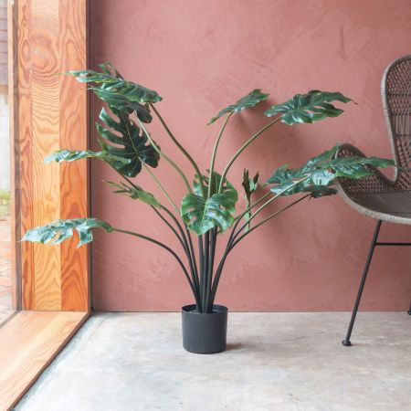 Faux Monstera Palm