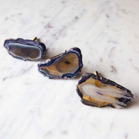 Navy Blue Agate Knob