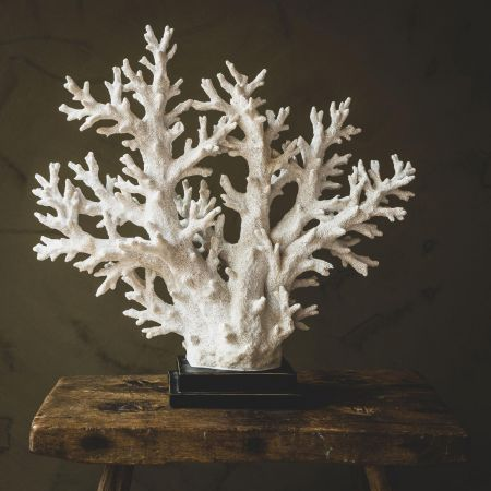 Large Faux White Coral Tree
