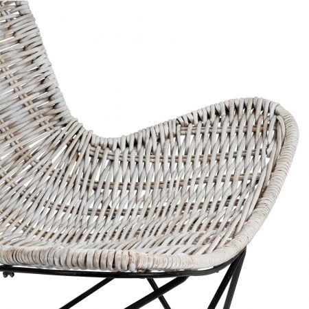 Poppy White Rattan Chair