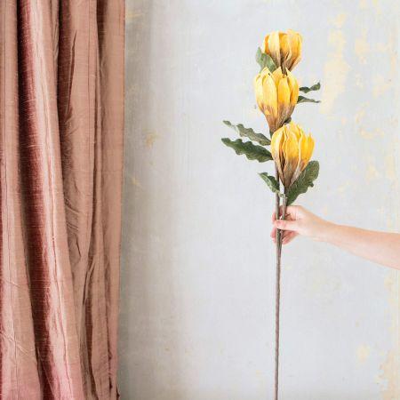 Faux Yellow Palyum Flower