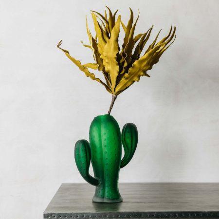 Glass Cactus Vase