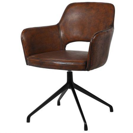 Mercer Brown Swivel Chair