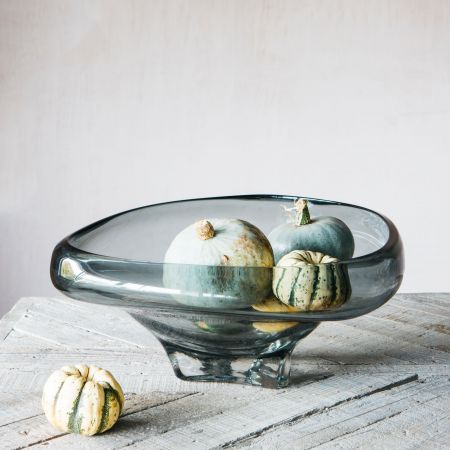 Large Smoked Glass Bowl