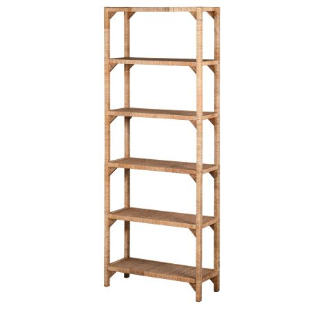 Rattan Six Shelf Unit