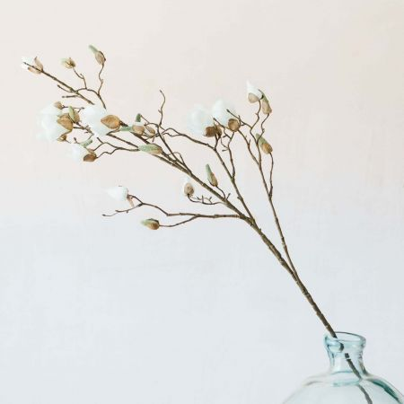 Faux Ivory Magnolia Branch
