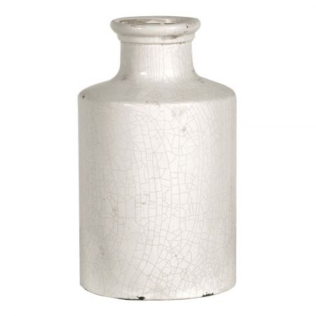 White Distressed Bottle Vase