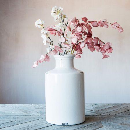 White Distressed Bottle Vase
