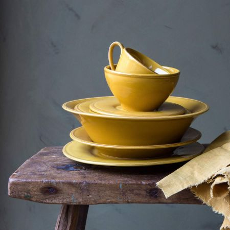 Constance Mustard Cup and Saucer