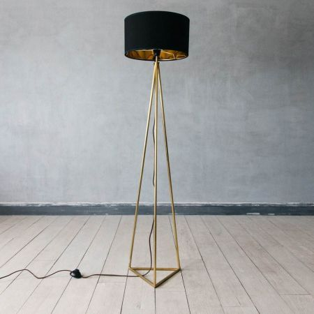 Leopold Brass Floor Light