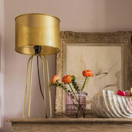 Brass Perforated Table Lamp
