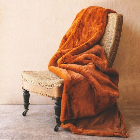 Burnt Amber Throw