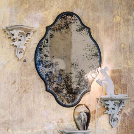 Juliet Antiqued Scalloped Mirror - Thumbnail
