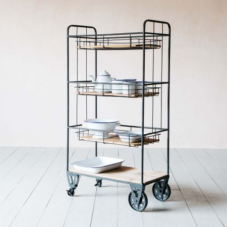 Jansen Tall Storage Cart
