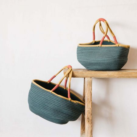 Set of Two Dark Green Baskets