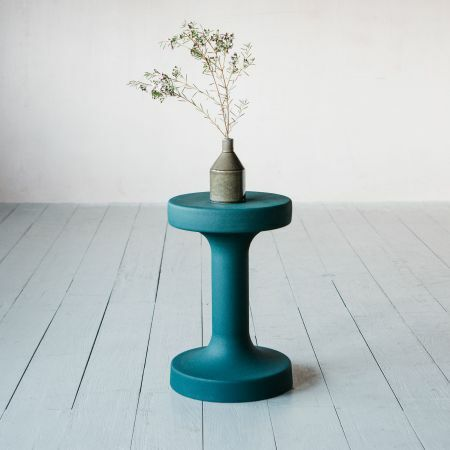 Green Metal Side Table