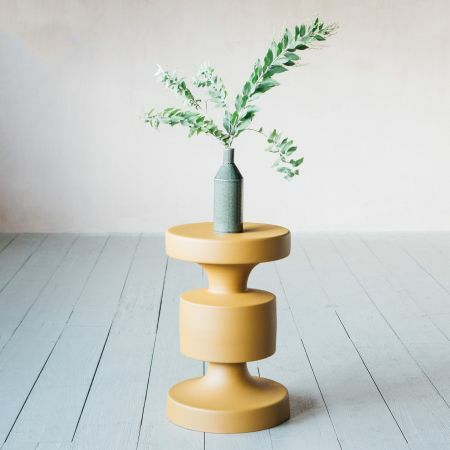 Mustard Metal Side Table