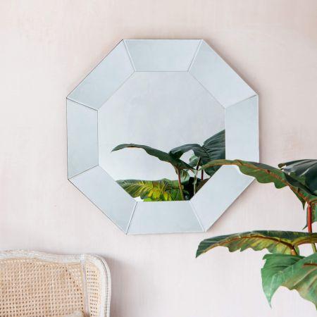 Silver Octagonal Mirror