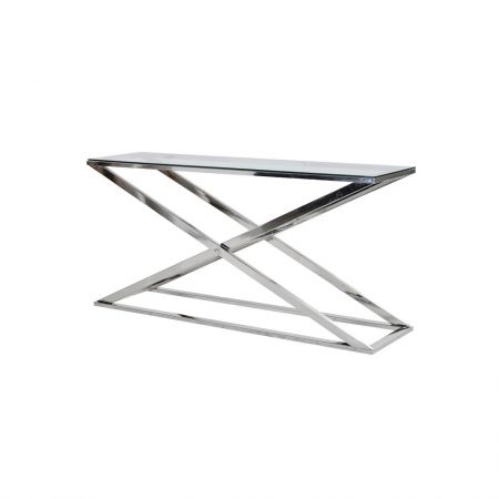Silver Cross Console Table