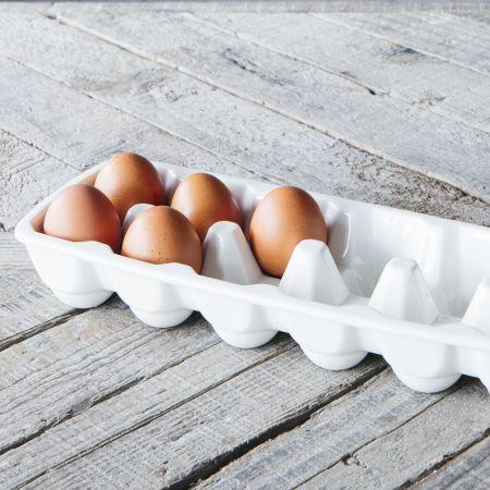 White Ceramic Egg Tray