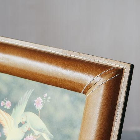 Tan Leather Photo Frames