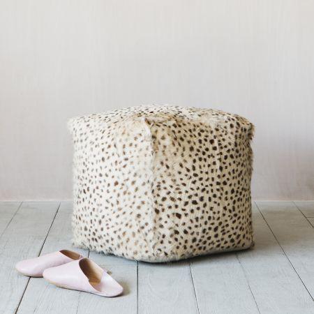 Leopard Print Pouffe