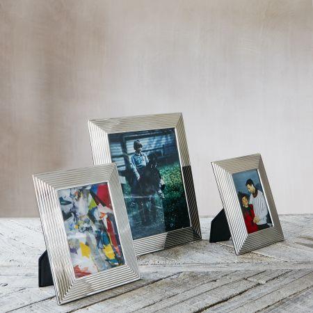 Silver Bevelled Photo Frames