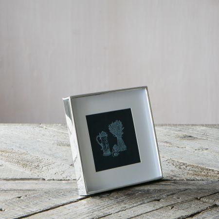 Square Slim Silver Frame