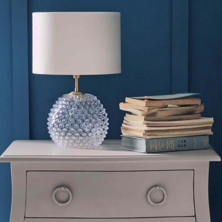 Clear Diamond Tip Table Lamp