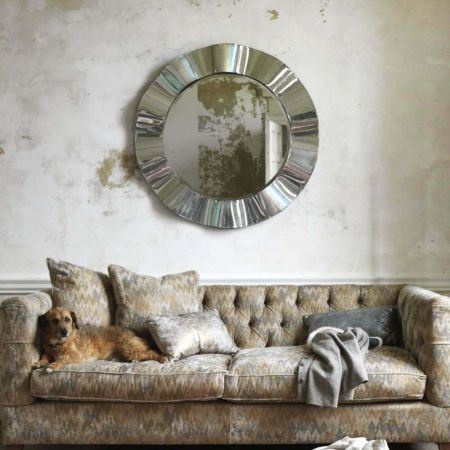 Wavy Silver Wall Mirror