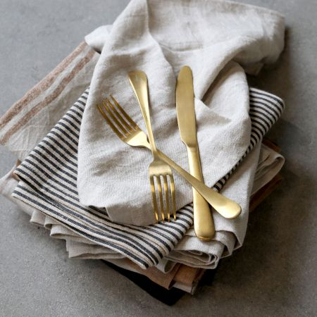 Individual Gold Cutlery Set