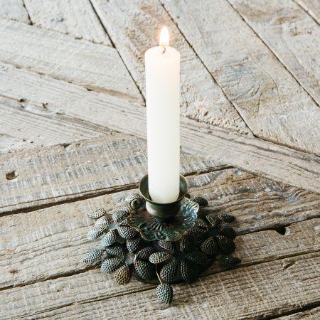 Antique Leaf Candlestick