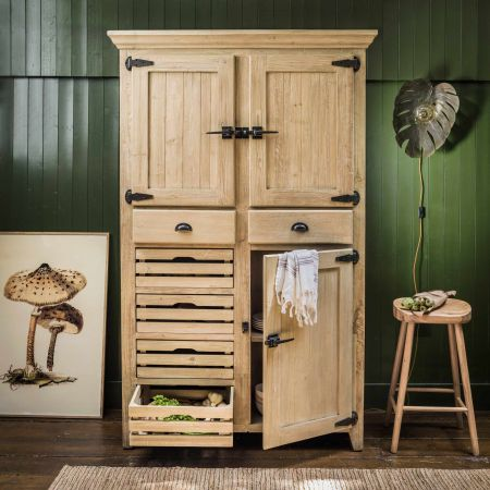 Distressed Multi-Storage Cabinet